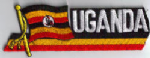Uganda Embroidered Flag Patch, style 01.